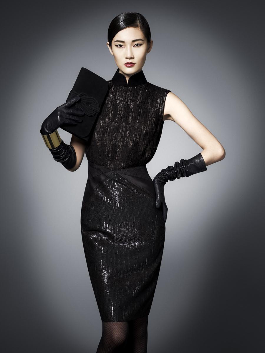 Shanghai tang qi pao dress evening