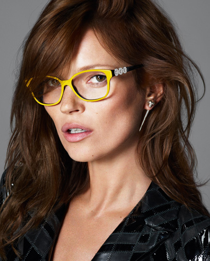 Kate Moss Plays Muse For Versace Eyeglasses Marie France